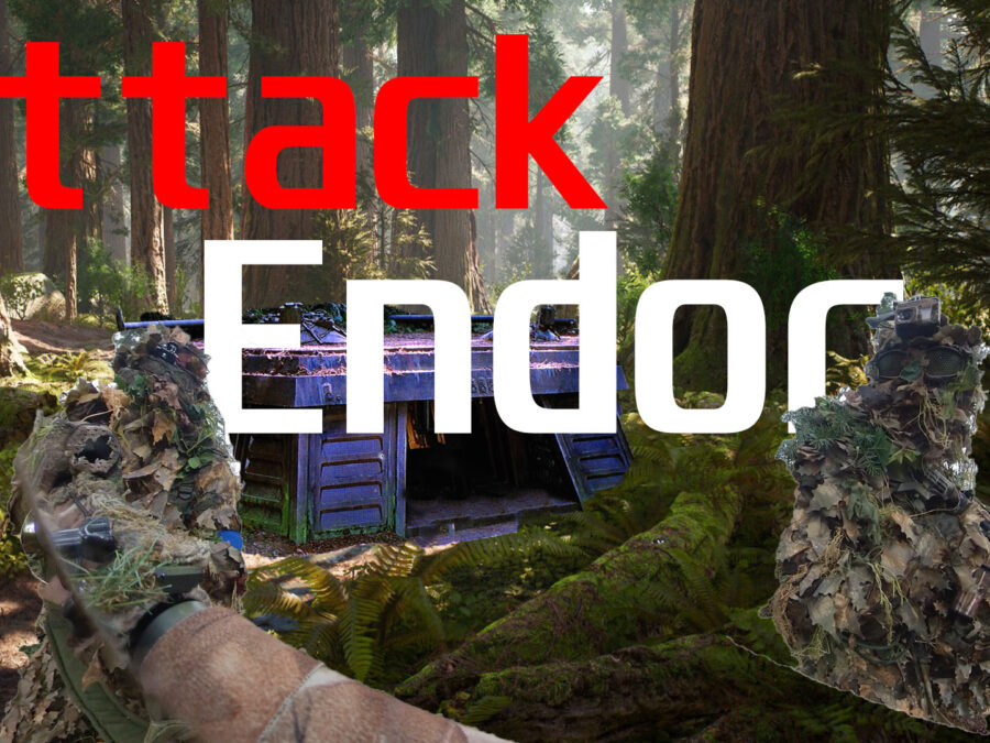 Airsofters attack the Shield Bunker on Endor!